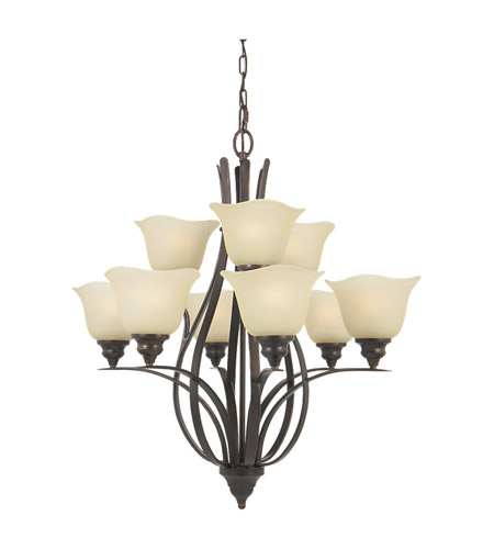 Feiss Morningside 9 Light Chandelier in Grecian Bronze F2053/6+3GBZ photo
