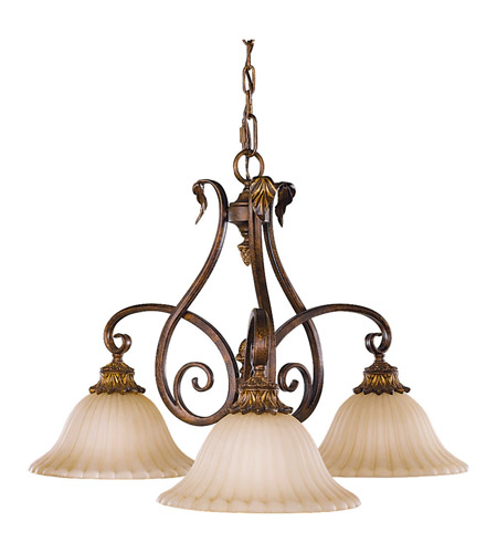Feiss Sonoma Valley 3 Light Chandelier in Aged Tortoise Shell F2073/3ATS photo