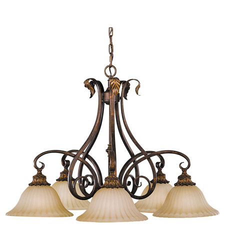 Feiss Sonoma Valley 5 Light Chandelier in Aged Tortoise Shell F2075/5ATS photo
