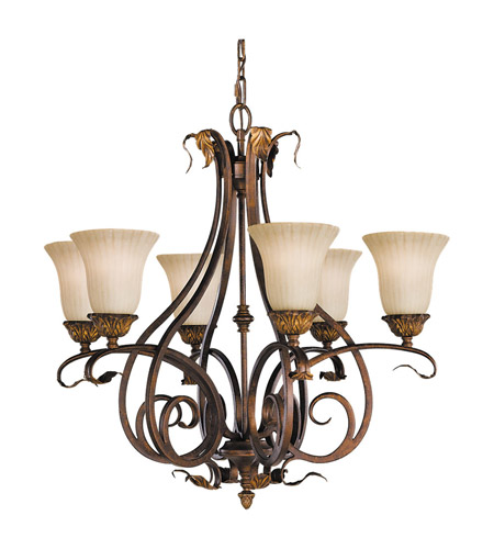 Feiss F2076/6ATS Sonoma Valley 6 Light 29 inch Aged Tortoise Shell Chandelier Ceiling Light photo