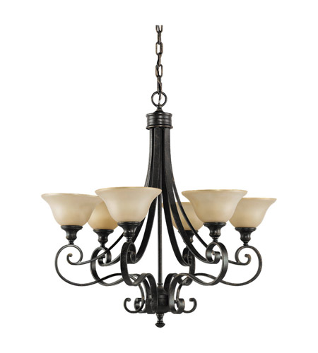 Feiss F2187/6LBR Cervantes 6 Light 28 inch Liberty Bronze Chandelier Ceiling Light photo