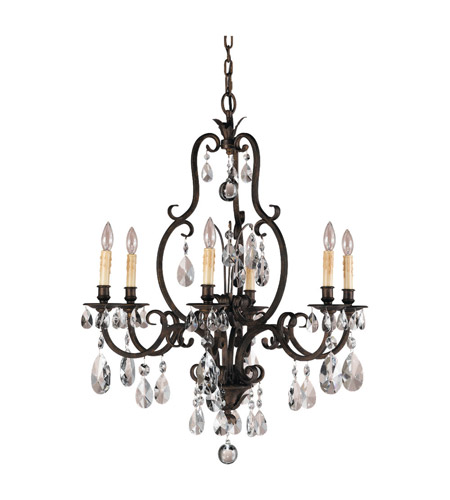 Feiss Salon Maison 6 Light Chandelier in Aged Tortoise Shell F2228/6ATS photo
