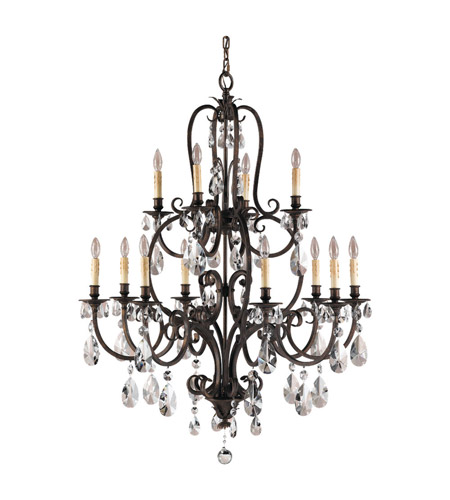 Feiss F2229/8+4ATS Salon Maison 12 Light 37 inch Aged Tortoise Shell Chandelier Ceiling Light photo