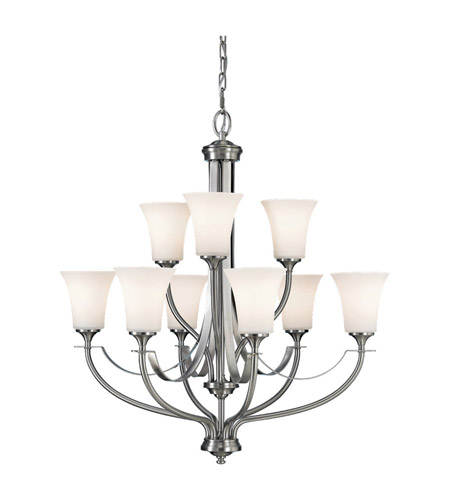 Feiss F2253/6+3BS Barrington 9 Light 29 inch Brushed Steel Chandelier Ceiling Light photo