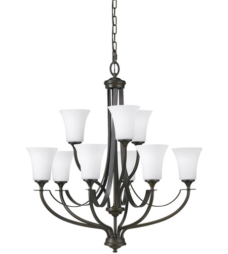 Feiss F2253/6+3ORB Barrington 9 Light 29 inch Oil Rubbed Bronze Chandelier Ceiling Light photo