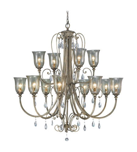 Feiss Smokey Topaz 12 Light Chandelier in Moonshadow F2265/8+4MSH photo