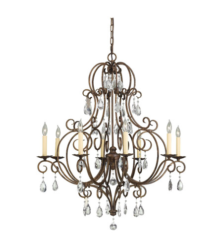Feiss F2303/8MBZ Chateau 8 Light 32 inch Mocha Bronze Chandelier Ceiling Light photo