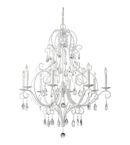 Feiss f23038sgw chateau blanc 8 light 32 inch semi gloss white feiss f23038sgw chateau blanc 8 light 32 inch semi gloss white chandelier ceiling light aloadofball Gallery