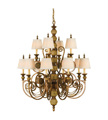 Feiss Florentine Dome 12 Light Chandelier in Firenze Gold F2327/8+4FG photo
