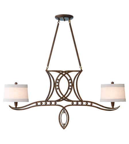 Feiss Hollywood Palm 2 Light Chandelier in Urban Gold F2340/2UGD photo