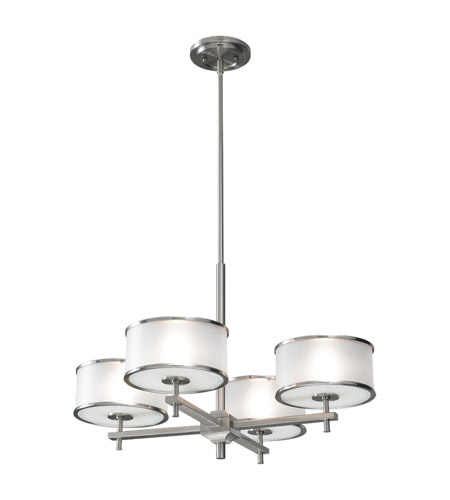 Feiss Casual Luxury 4 Light Chandelier in Brushed Steel F2346/4BS photo