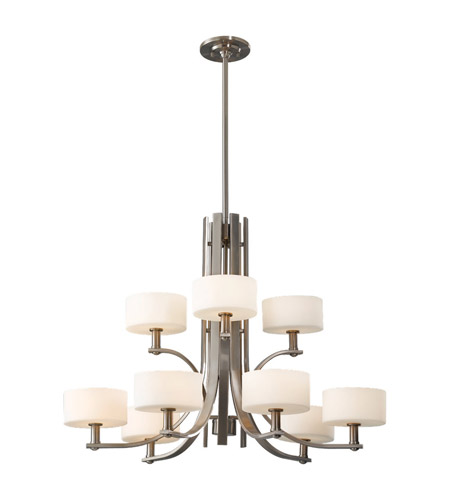 Feiss Sunset Drive 9 Light Chandelier in Brushed Steel F2406/6+3BS photo
