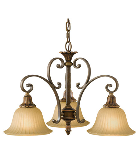 Feiss Kelham Hall 3 Light Chandelier in Firenze Gold and British Bronze F2419/3FG/BRB photo
