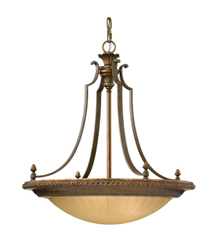 Feiss Kelham Hall 4 Light Chandelier in Firenze Gold and British Bronze F2422/3FG/BRB photo