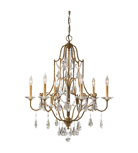 Feiss Valentina 6 Light Chandelier in Oxidized Bronze F2478/6OBZ photo