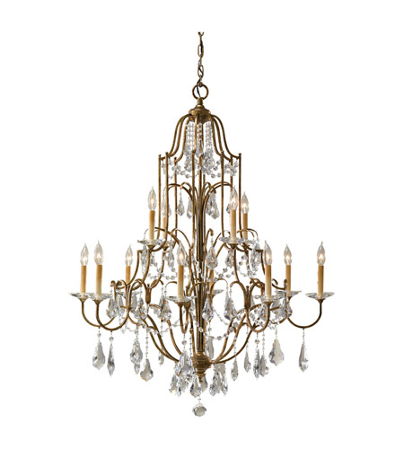 Feiss F2479/8+4OBZ Valentina 12 Light 37 inch Oxidized Bronze Chandelier Ceiling Light photo