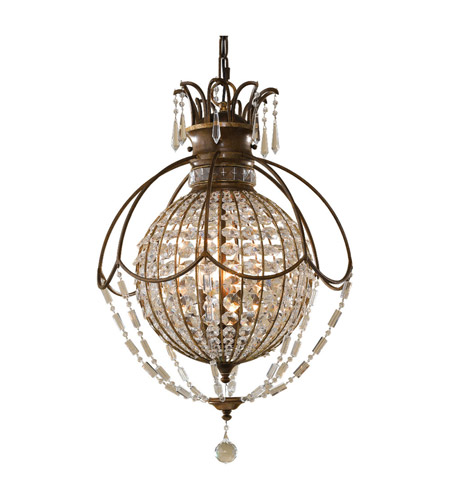 Feiss Bellini 3 Light Chandelier in Oxidized Bronze and British Bronze F2504/3OBZ/BRB photo