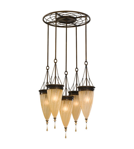 Feiss Trinity 5 Light Chandelier in Astral Bronze F2528/5ASTB photo
