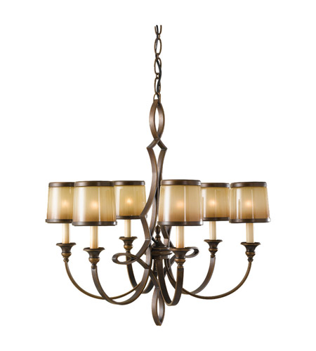 Feiss Justine 6 Light Chandelier in Astral Bronze F2529/6ASTB photo