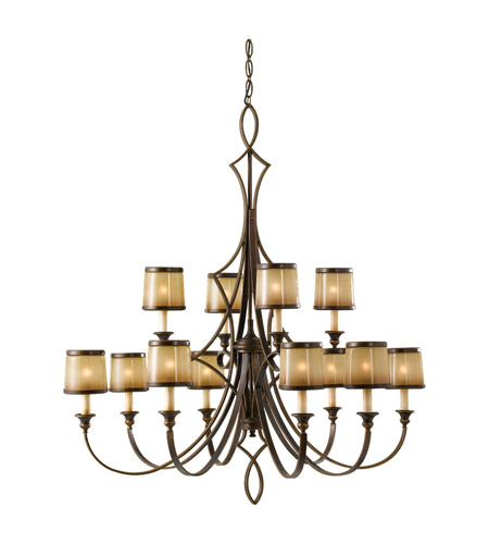 Feiss Justine 12 Light Chandelier in Astral Bronze F2531/8+4ASTB photo