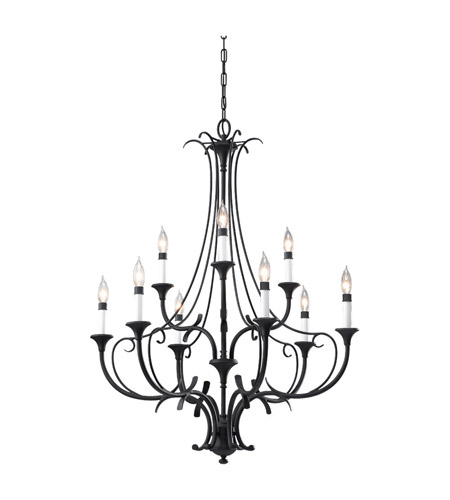 Feiss Peyton 9 Light Chandelier in Black F2534/6+3BK photo
