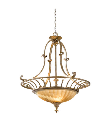 Feiss Bancroft 3 Light Chandelier in Oxidized Silver Leaf F2542/3OSL photo