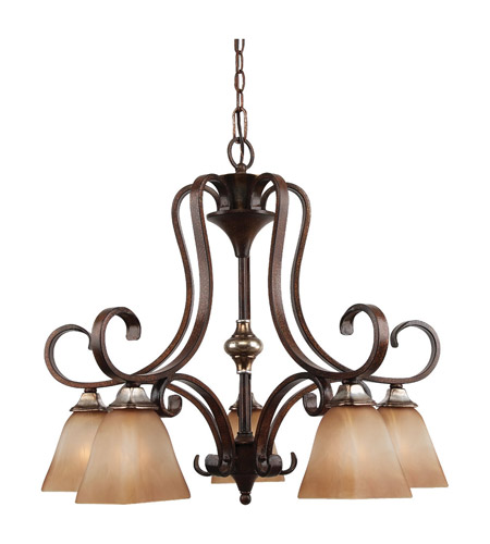 Feiss Catania 5 Light Chandelier in Mediterranean Crackle F2559/5MCR photo