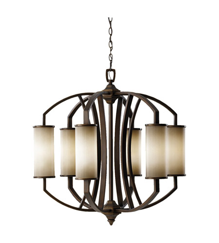 Feiss Logan 6 Light Chandelier in Pecan F2564/6PCN photo