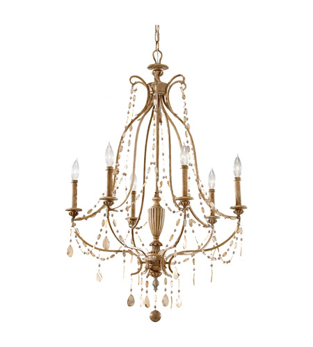 Feiss Simone 6 Light Chandelier in Driftwood F2575/6DRFW photo