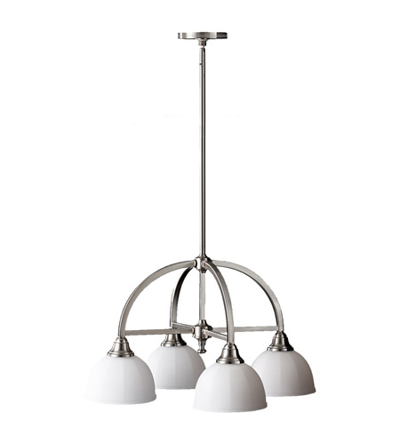 Feiss F2582/4BS Perry 4 Light 24 inch Brushed Steel Chandelier Ceiling Light photo
