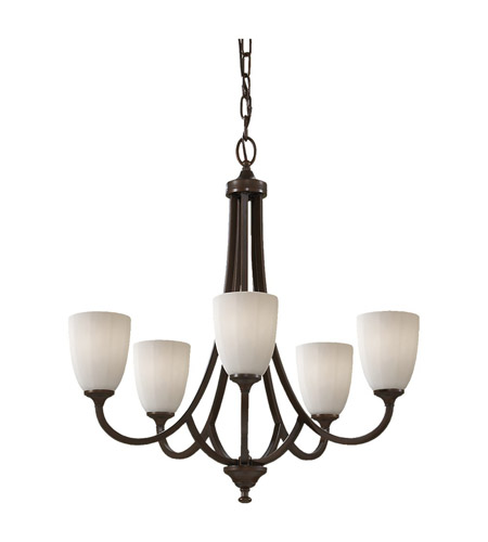 Feiss Perry 5 Light Chandelier in Heritage Bronze F2584/5HTBZ photo