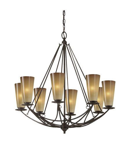 Feiss F2606/8MBZ El Nido 8 Light 28 inch Mocha Bronze Chandelier Ceiling Light photo