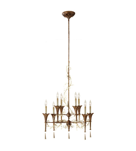 Feiss Amelia 8 Light Chandelier in Silver Leaf Patina and Oxidized Bronze F2610/8SLP/OBZ photo