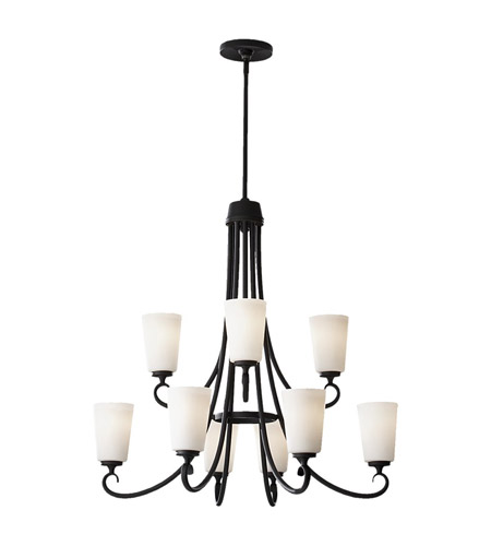 Feiss Peyton 9 Light Chandelier in Black F2625/6+3BK photo