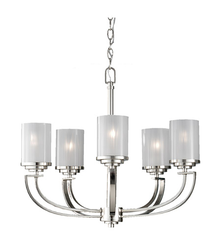 Feiss Finley 5 Light Chandelier in Polished Nickel F2632/5PN photo