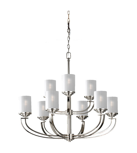 Feiss Finley 9 Light Chandelier in Polished Nickel F2633/6+3PN photo