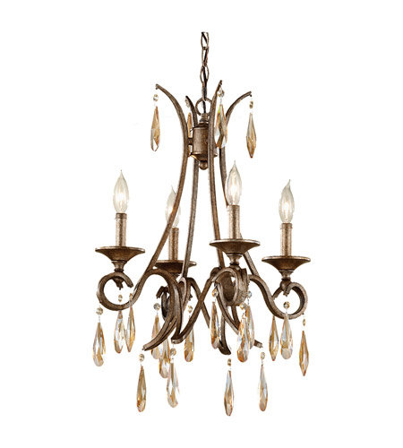 Feiss Reina 4 Light Chandelier in Gilded Imperial Silver F2637/4GIS photo