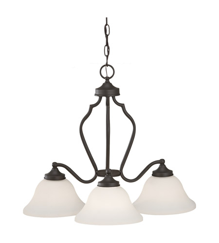Feiss Beckett 3 Light Chandelier in Oil Rubbed Bronze F2647/3ORB photo