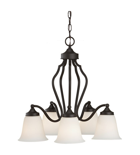 Feiss Beckett 5 Light Chandelier in Oil Rubbed Bronze F2648/5ORB photo