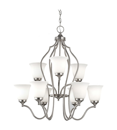 Feiss Beckett 9 Light Chandelier in Brushed Steel F2651/6+3BS photo