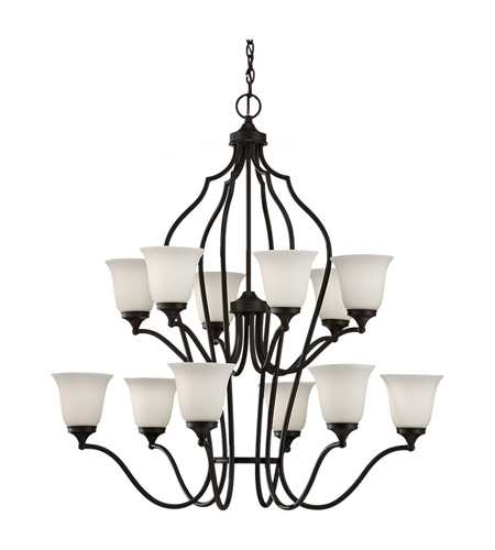 Feiss Beckett 12 Light Chandelier in Oil Rubbed Bronze F2652/6+6ORB photo