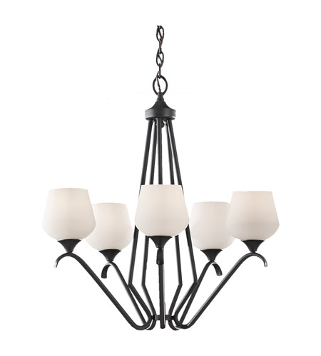 Feiss Merritt 5 Light Chandelier in Black F2659/5BK photo