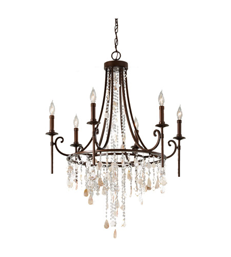 Feiss F2660/6HTBZ Cascade 6 Light 28 inch Heritage Bronze Chandelier Ceiling Light photo