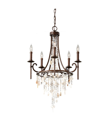 Murray Feiss Ceiling Fan Light Kit: Feiss Cascade 5 Light Chandelier In Heritage Bronze F2663