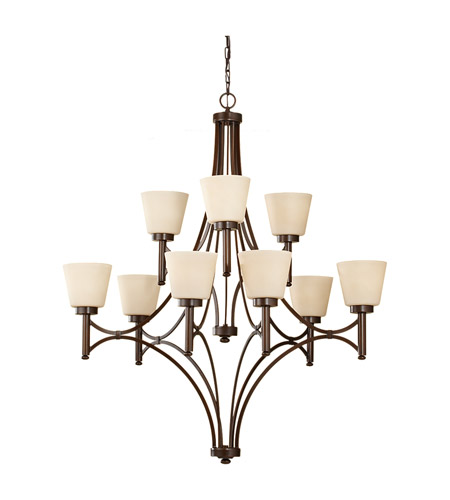 Feiss F2671/6+3HTBZ Nolan 9 Light 39 inch Heritage Bronze Chandelier Ceiling Light photo