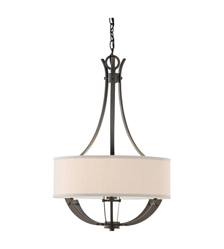 Feiss Brody 3 Light Chandelier in Colonial Iron F2675/3CI photo
