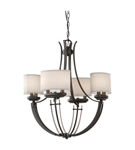 Feiss Brody 8 Light Chandelier in Colonial Iron F2676/8CI photo