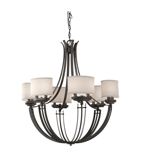 Feiss Brody 12 Light Chandelier in Colonial Iron F2677/12CI photo
