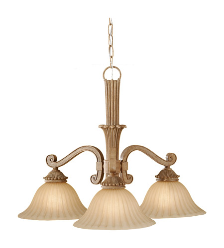 Feiss Blaire 3 Light Chandelier in Medium Aged Wood F2678/3MAW photo