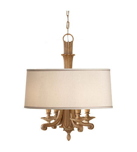 Feiss Blaire 4 Light Chandelier in Medium Aged Wood F2679/4MAW photo